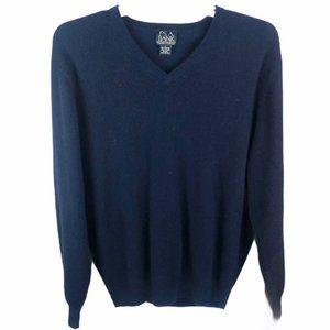 Jos A Bank Cashmere Sweater Blue Mens Large v-neck